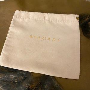 "BULGARI Watch Accessory Belt Dust Bag pouch 7"""